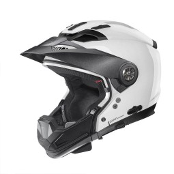 Motorrad Helm Modular Nolan N70-2 GT Classic 5 Metal White ,Modularhelme