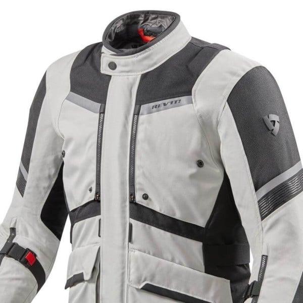 Veste moto Revit Neptune 2 GTX argent noir