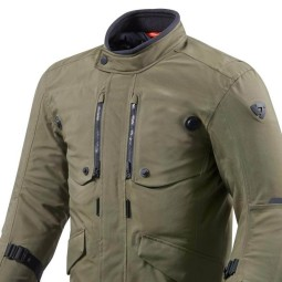 Motorcycle Fabric Jacket REVIT Trench GTX Dark Green ,Motorcycle Textile Jackets