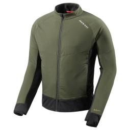 Giacca Termica Moto REVIT Climate 2 Verde Scuro-Nero, Abbigliamento Funzionale Moto