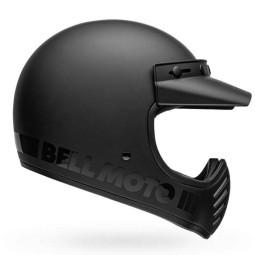Casco Moto Vintage BELL HELMETS Moto 3 Matte Black, Caschi Vintage