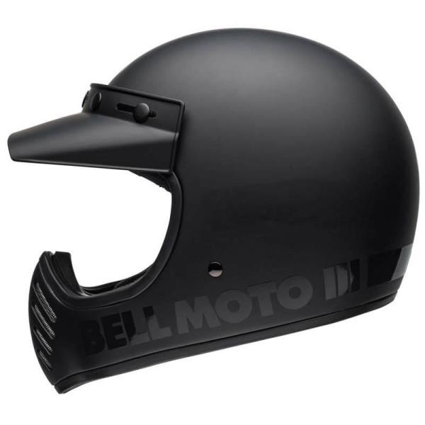 Casque Moto Vintage BELL HELMETS Moto 3 Matte Black