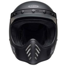 Motorrad Helm Vintage BELL HELMETS Moto 3 Matte Black