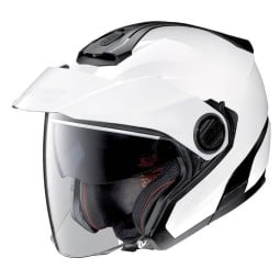 Motorrad Helm Jet Nolan N40-5 Classic Metal White ,Jet Helme