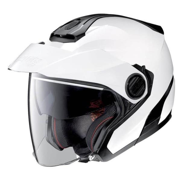 Motorcycle Helmet Jet Nolan N40-5 Classic Metal White