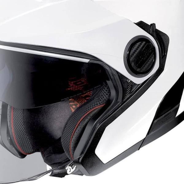 Motorrad Helm Jet Nolan N40-5 Classic Metal White