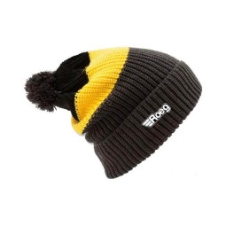 Motorcycle Beanie ROEG Moto Co Averell Black Yellow ,Beanies / Hats