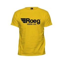 T-shirt ROEG Moto Co OG TEE Yellow ,T-Shirts