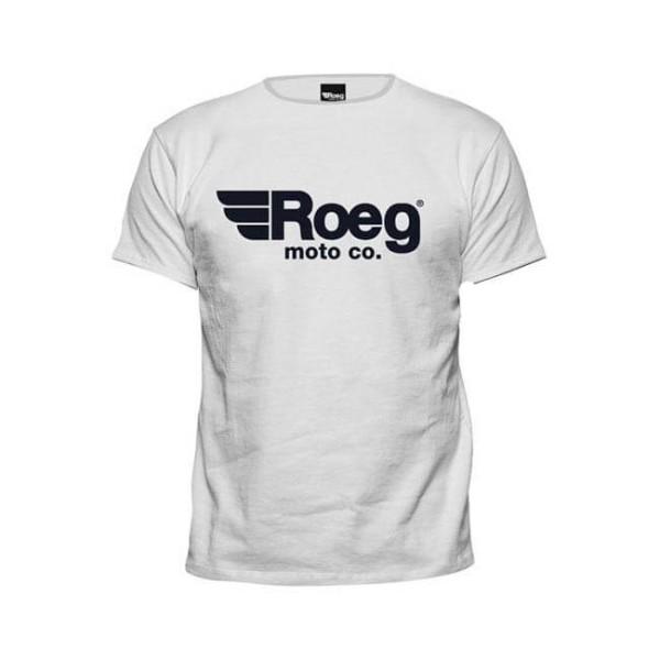 T-shirt ROEG Moto Co OG TEE Blanc