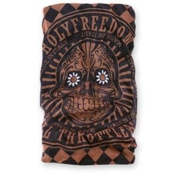 Bandana tubolare moto Holy Freedom Tunnel Golden Skull, Accessori