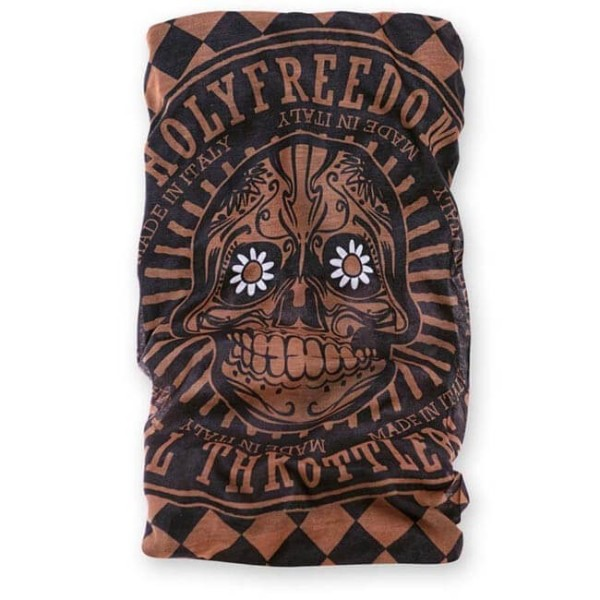 Foulard tubulaire moto Holy Freedom Tunnel Golden Skull