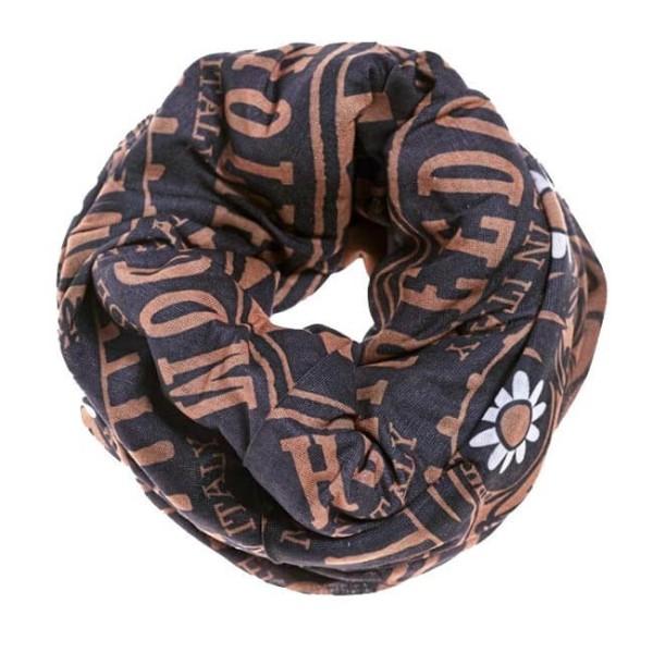 Motorcycle tubular scarf Holy Freedom Tunnel Golden Skull