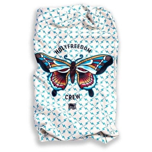 Motorcycle tubular scarf Holy Freedom Stretch Tunnel Butterfly