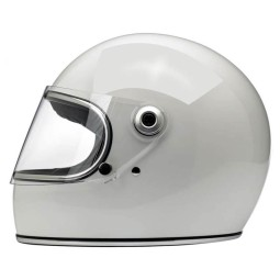 Motorrad Helm Vintage BILTWELL Gringo S Gloss White ,Vintage Helme