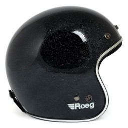 Motorrad Helm Vintage ROEG Moto Co JETT Black Megaflake