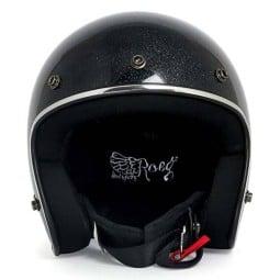 Casco Moto Vintage ROEG Moto Co JETT Black Megaflake, Caschi Jet
