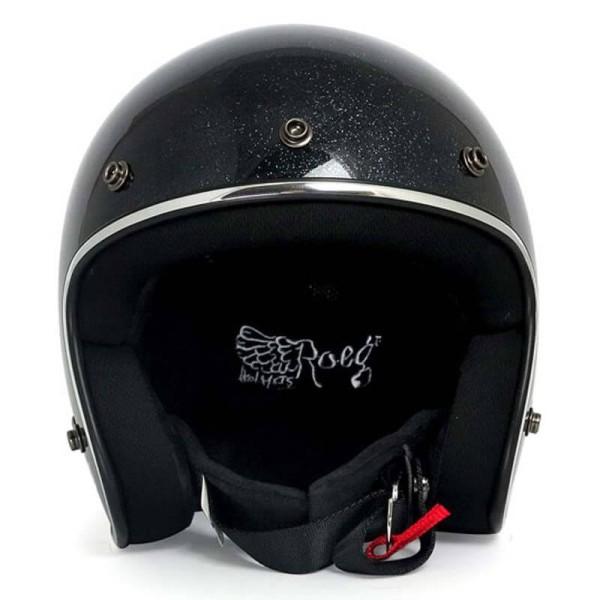 Casque Moto Vintage ROEG Moto Co JETT Black Megaflake