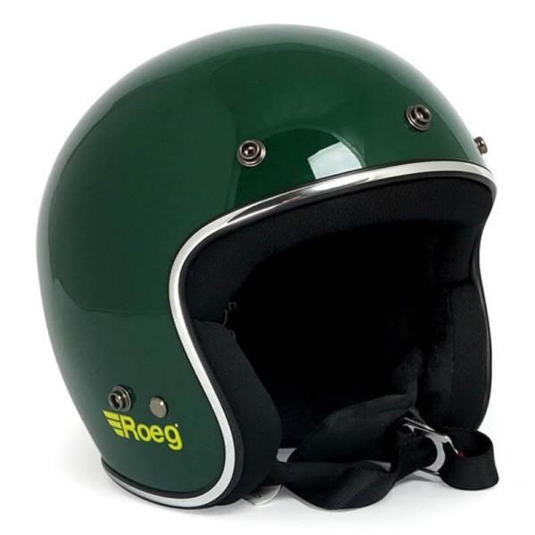 Motorcycle Helmet Vintage ROEG Moto Co JETT Green