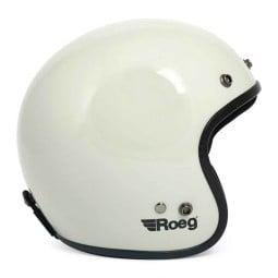Motorcycle Helmet Vintage ROEG Moto Co JETT White ,Jet Helmets