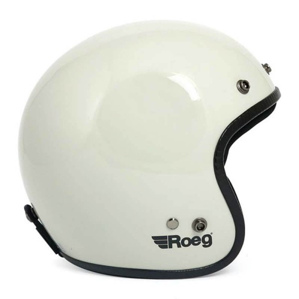Motorcycle Helmet Vintage ROEG Moto Co JETT White