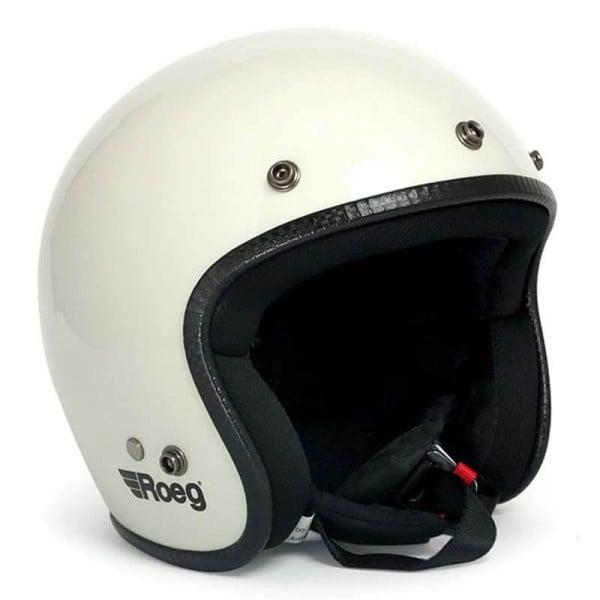 Casco Moto Vintage ROEG Moto Co JETT White