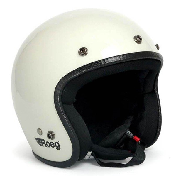 Casque Moto Vintage ROEG Moto Co JETT White