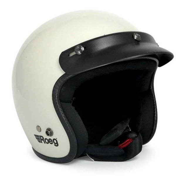 Motorrad Helm Vintage ROEG Moto Co JETT White
