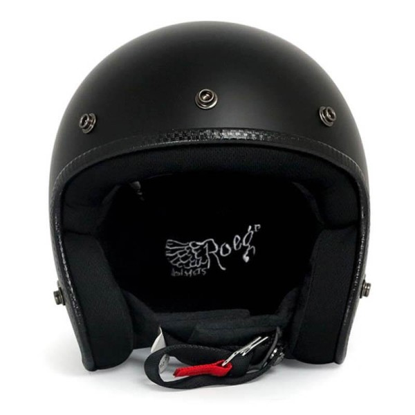 Motorrad Helm Vintage ROEG Moto Co JETT Matte Black