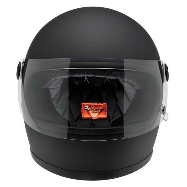 Motorrad Helm Vintage BILTWELL Gringo S Flat Black