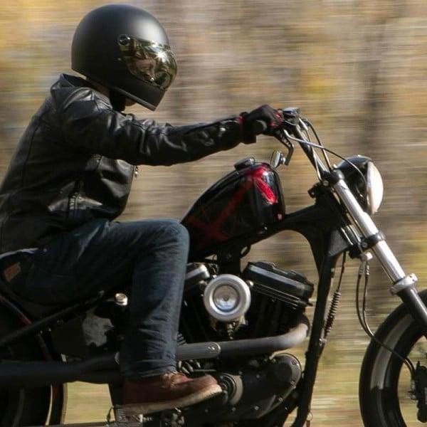 Casco Moto Vintage BILTWELL Gringo S Flat Black