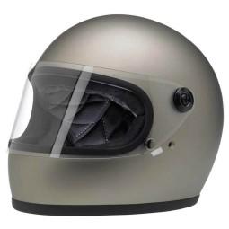 Motorrad Helm Vintage BILTWELL Gringo S Flat Titanium ,Vintage Helme