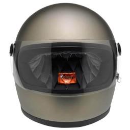 Motorcycle Helmet Vintage BILTWELL Gringo S Flat Titanium ,Vintage Helmets