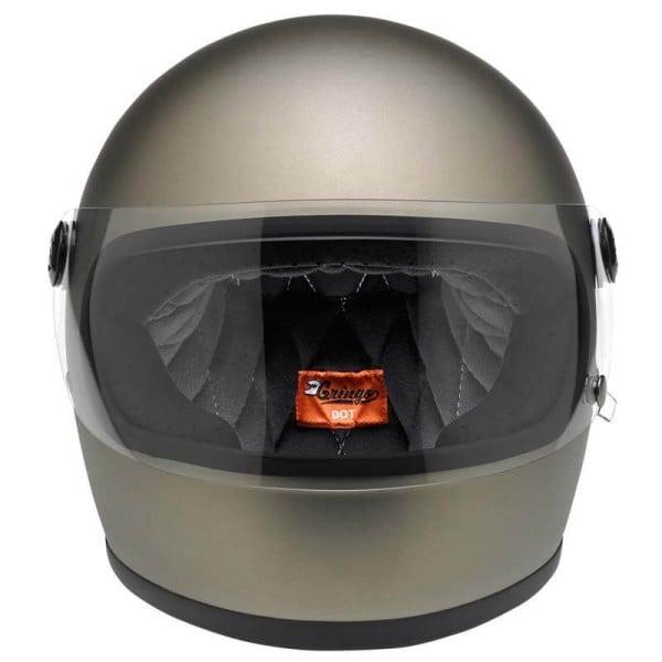 Motorcycle Helmet Vintage BILTWELL Gringo S Flat Titanium