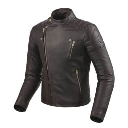 Motorcycle Leather Jacket REVIT Vaughn Dark Brown ,Leather Motorcycle Jackets