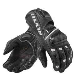 Motorcycle Leather Gloves REVIT Jerez 3 Black White ,Motorcycle Leather Gloves