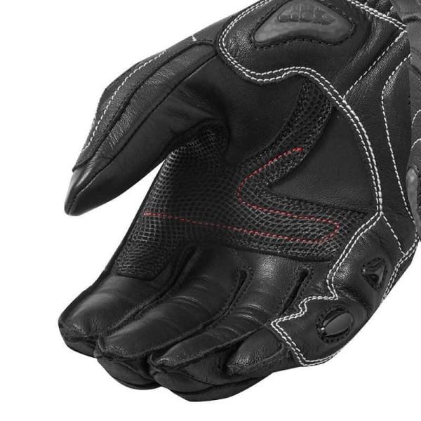 Motorcycle Leather Gloves REVIT Jerez 3 Black White