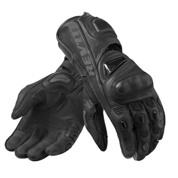 Motorcycle Leather Gloves REVIT Jerez 3 Black
