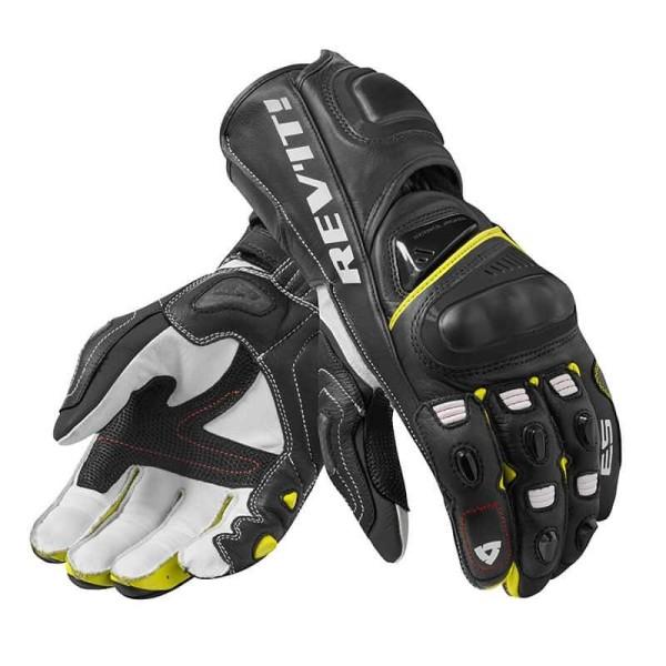 Motorcycle Leather Gloves REVIT Jerez 3 Black Neon Yellow ,Motorcycle Leather Gloves