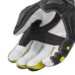 Motorcycle Leather Gloves REVIT Jerez 3 Black Neon Yellow