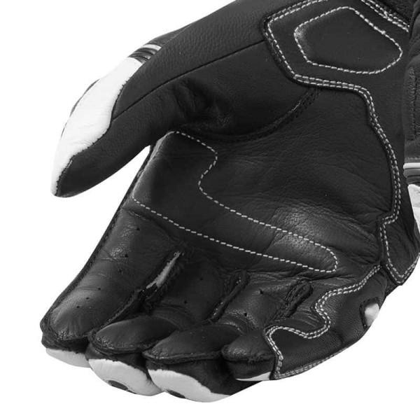 Motorrad-Handschuhe REVIT RSR 3 Schwarz Weiß