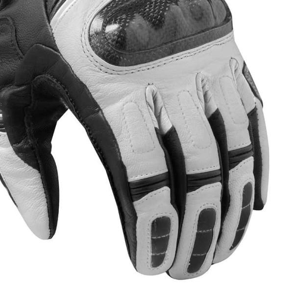 Motorcycle Leather Gloves REVIT RSR 3 Black White