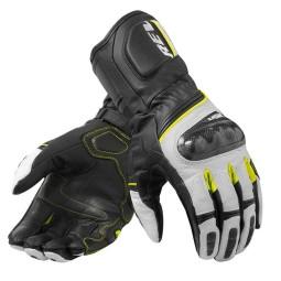 Motorrad-Handschuhe REVIT RSR 3 Schwarz Neon Gelb ,Motorrad Lederhandschuhe