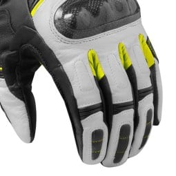 Motorcycle Leather Gloves REVIT RSR 3 Black Neon Yellow