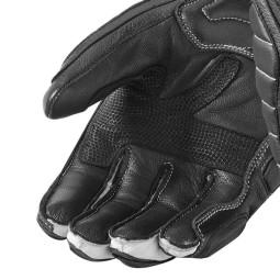 Motorcycle Leather Gloves REVIT Chicane Black White