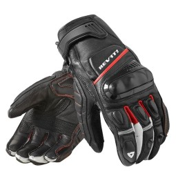 Motorcycle Leather Gloves REVIT Chicane Black Red