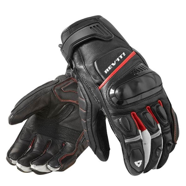 Motorrad-Handschuhe REVIT Chicane Schwarz Rot