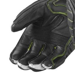 Motorcycle Leather Gloves REVIT Chicane Black Neon Yellow ,Motorcycle Leather Gloves