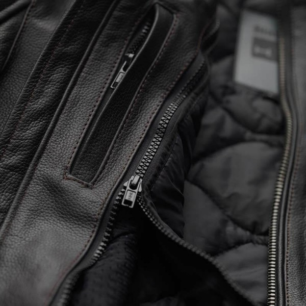 Motorcycle Leather \nJacket BLAUER HT Thor 1.0 Brown