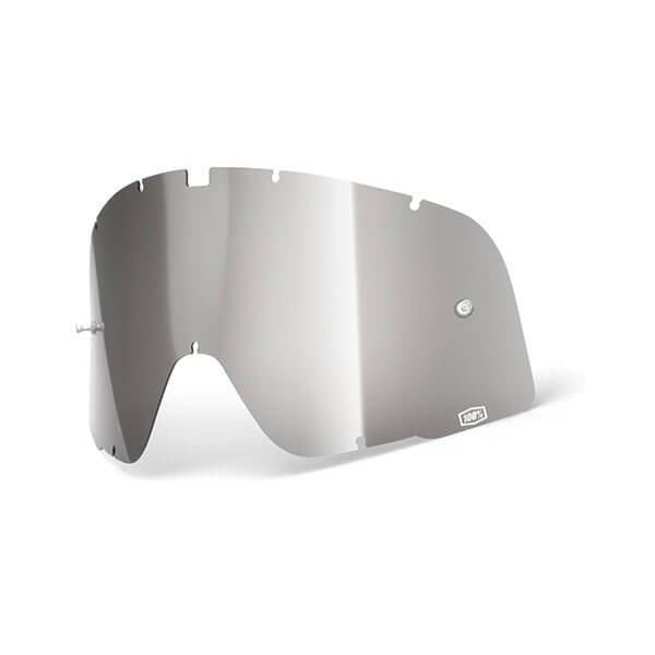 Lens Motorcycle Goggles 100% Barstow Silver