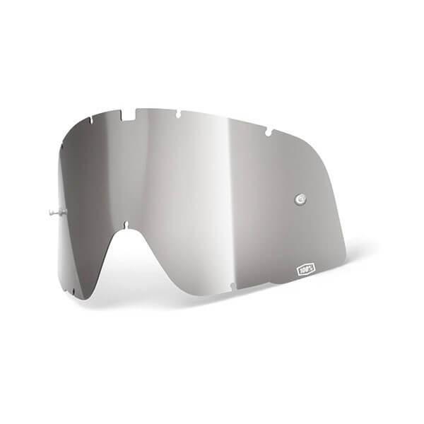 Linse Motorradbrille 100% Barstow Silber